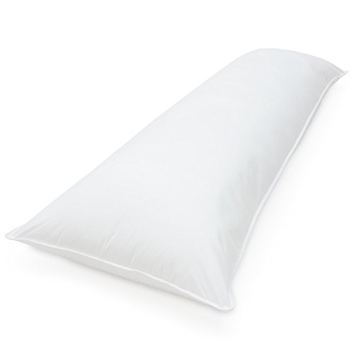 White Solid Rajlinen Body Pillow Cases 100 Cotton